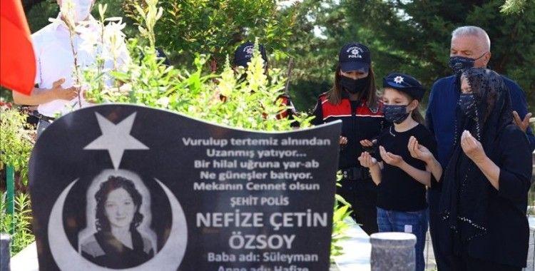 Şehit polis memuru Nefize Çetin Özsoy, şehadetinin 5. yılında kabri başında anıldı