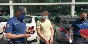 Parkta cep telefonu gasbına 2 tutuklama