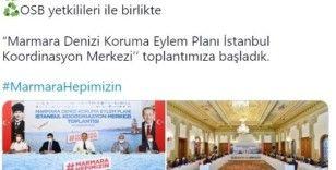 'Marmara Denizi Koruma Eylem Planı İstanbul Koordinasyon Merkezi toplantımıza başladık'