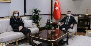 Cumhurbaşkanı Yardımcısı Oktay, KKTC Bayındırlık ve Ulaştırma Bakanı Canaltay'ı kabul etti