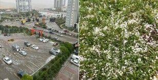 Ankara'nın bazı bölgelerine dolu yağdı