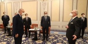 Cumhurbaşkanı Erdoğan, Letonya Cumhurbaşkanı Levits ile görüştü