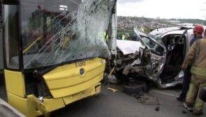 Başakşehir'de feci kaza, 1 ölü, İETT şoförü ağır yaralı