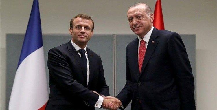 Cumhurbaşkanı Erdoğan'ın Fransa Cumhurbaşkanı Macron ile görüşmesi sona erdi