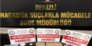 Denizli'ye uyuşturucu getiren ayrı, satmaya çalışanlar ayrı yakalandı: 45 gözaltı