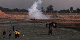 İsrail güçleri Doğu Kudüs'teki 'Bayrak Yürüyüşü'nü protesto eden Gazze Şeridi'ndeki Filistinlilere ateş açtı