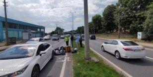 Zonguldak'ın Ereğli ilçesinde motosiklet ile otomobilin çarpıştığı kazada 1 kişi yaralandı.