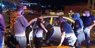 Kaza yapan polis hayatını kaybetti, eşi yaralandı