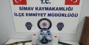 Simav'da kaçak alkol operasyonu