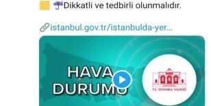 İstanbul için sarı kodlu uyarı