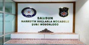 Samsun'da 7 bin 756 adet uyuşturucu hap ele geçirildi
