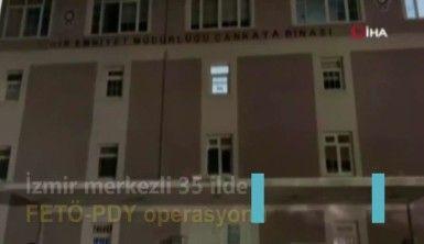 İzmir merkezli 35 ilde FETÖ-PDY operasyonu