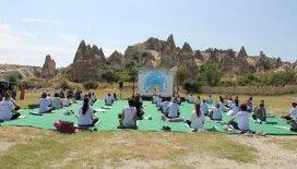 Hindistanlılar Uluslararası Yoga Günü'nü Kapadokya'da kutladı