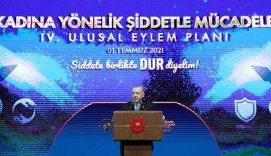Cumhurbaşkanı Erdoğan, Kadına Karşı Şiddetle Mücadele 4. Ulusal Eylem Planı'nı tanıttı