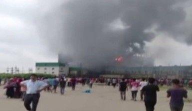 Bangladeş'te fabrika yangını