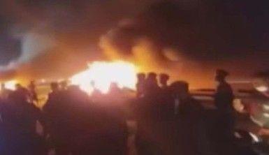 Irak'ta hastanedeki yangın halkı sokağa döktü