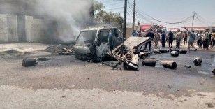 Irak'ta tüp taşıyan araçta patlama