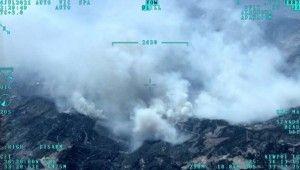 Mersin'deki orman yangını İHA ile havadan görüntülendi