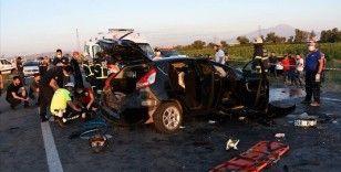 Aksaray'da trafik kazası: 2 ölü, 6 yaralı