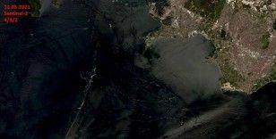 Marmara Denizi'nin uzaydan çekilen görüntülerinde müsilajın temizlendiği tespit edildi