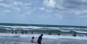 Şile'de yasağı hiçe sayan vatandaşlar denize girmeye devam etti