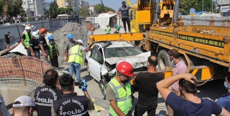 Metro inşaatında şafta düşen sürücü yaşamını yitirdi