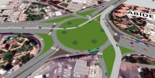 Abide Kavşağı'nda trafiği rahatlatacak proje