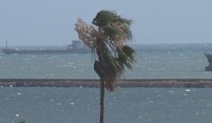 Samsun'da kuvvetli rüzgar etkisini artırıyor