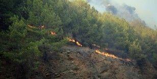 Mersin'de iki ilçede çıkan orman yangını nedeniyle bazı evler tedbiren boşaltıldı