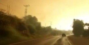 Mersin'deki orman yangını yerleşim yerlerini tehdit etmeye başladı
