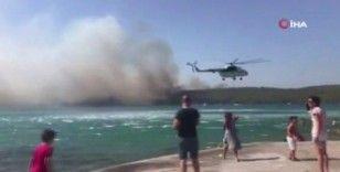 Bodrum'daki yangın otellere yaklaştı, müşteriler tahliye ediliyor