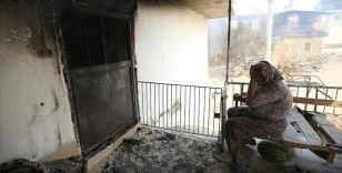 Manavgat'ta kanser hastası kadın, tedavi parasını yangında kaybetmenin üzüntüsünü yaşıyor