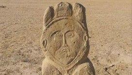 Kazakistan'da eski Türk dönemine ait taş heykel bulundu