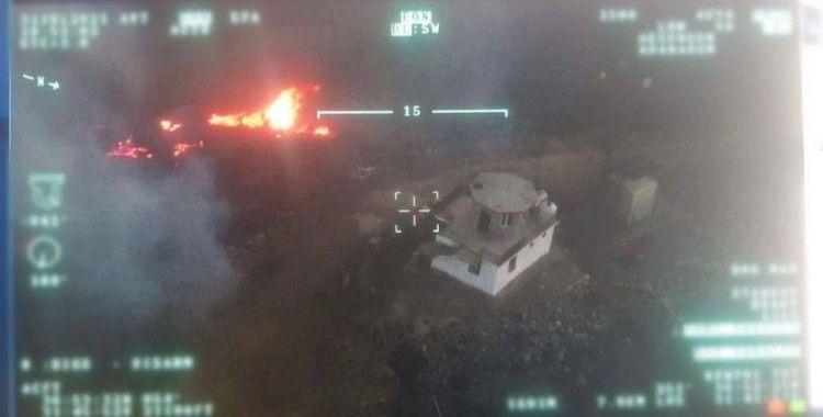 AKSUNGUR İHA sayesinde, yangında fark edilen 3 kule çalışanı alevlerin arasından kurtarıldı