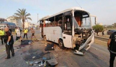 Havaalanına giden otobüs takla attı 3 ölü, 5 yaralı