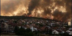 Kuzey Makedonya'da orman yangını