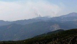 Köyceğiz'deki yangının dumanları Çameli'de gözüküyor