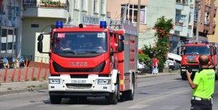 Azerbaycan'ın itfaiye konvoyu Samsun'a ulaştı