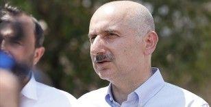 Ulaştırma ve Altyapı Bakanı Karaismailoğlu: Kimse merak etmesin en kısa sürede yangının izlerini kaldıracağız