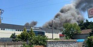 Çerez fabrikası alev alev yandı