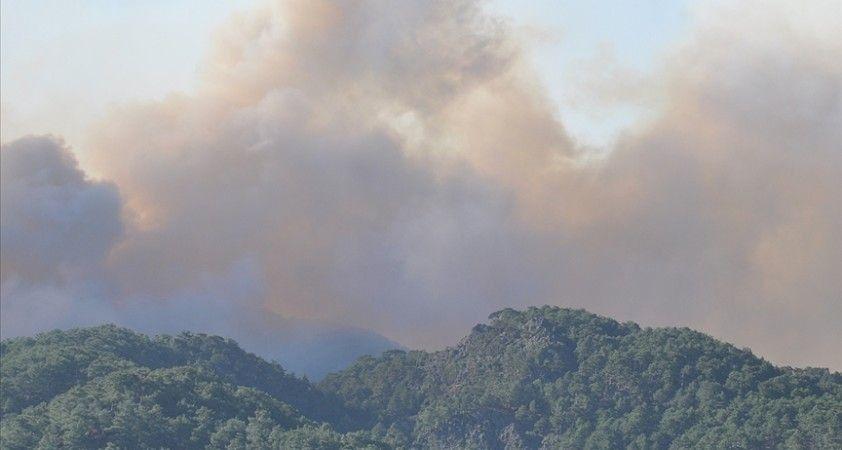 Köyceğiz'de orman yangınlarının tehdit ettiği 3 mahalle boşaltıldı