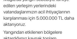 Bakan Yanık açıkladı: 5 milyon TL daha aktarıldı