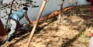 Sarıkamış ormanlarında çıkan örtü yangını söndürüldü