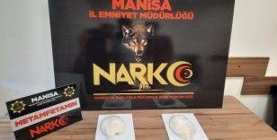 Manisa'da durdurulan araçta 821 gram metamfetamin ele geçirildi