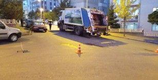 Marketten evine giderken çöp kamyonunun çarptığı kadın öldü