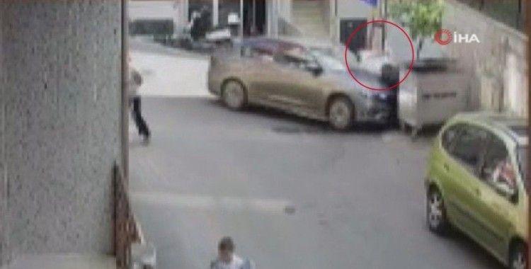 Şişli'de feci kaza kamerada, çöp atarken dehşeti yaşadı