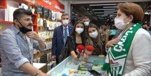 Vatandaşın Akşener'le yaşadığı diyalog dikkat çekti