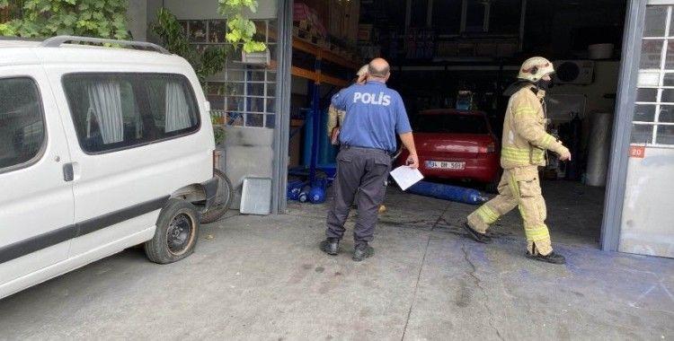 Esenyurt'ta sanayi sitesinde oksijen tüpü patladı, bir işçi ağır yaralandı