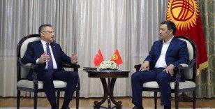 Cumhurbaşkanı Yardımcısı Oktay, Kırgızistan Cumhurbaşkanı Caparov ile bir araya geldi