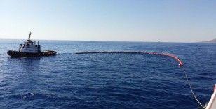 Akdeniz'de oluşan petrol kirliliğine karşı başlatılan temizlik çalışmalarında sona gelindi
